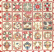 New York Tapestries - Textiles - Hannah Foote Album Quilt by Hannah Foote