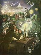 Hans Christian Andersen Print by Anne Grahame Johnstone