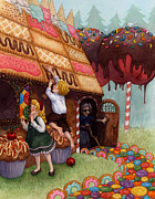 Isabella Kung Framed Prints - Hansel and Gretel Framed Print by Isabella Kung