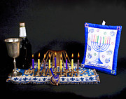 Hanukah Prints - Hanukah Candle Traditions Print by Larry Oskin