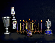Hanukah Prints - Hanukah Candles Print by Larry Oskin