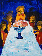 Menorah Paintings - Hanukkah Menorah by Walt Brodis