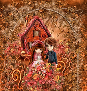 Sister Mixed Media Posters - Hanzel and Gretel Poster by Mo T