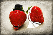Juicy Strawberries Metal Prints - Happily Berry After Metal Print by Andee Photography