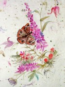 Handmade Paper Paintings - Happiness Is A Butterfly by Marilyn Smith