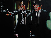 Vincent Vega Paintings - Happiness is a Warm Gun by Bluart Stack