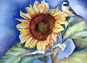 Sunflower Paintings - Happiness by Patricia Pushaw