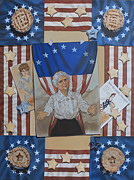 Patriotism Paintings - Happy 4th of July from K Henderson by K Henderson