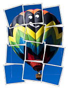 Mosaic Photo Framed Prints - Happy Balloon Ride Framed Print by Edward Fielding
