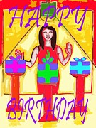 Birthday Cards Mixed Media Posters - Happy Birthday 11 Poster by Patrick J Murphy