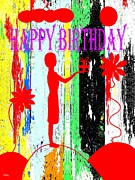 Happy Posters Mixed Media Posters - Happy Birthday 7 Poster by Patrick J Murphy