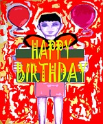 Christian Artwork Mixed Media - Happy Birthday 9 by Patrick J Murphy