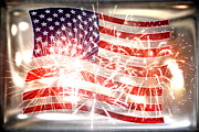 Flag Of Usa Originals - Happy Birthday America by Li   van Saathoff
