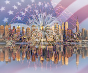 Independance Day Art - Happy Birthday America by Susan Candelario