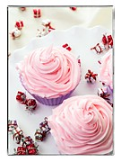 Frosting Photo Framed Prints - Happy Birthday Cupcakes Framed Print by Edward Fielding