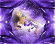 Constellation Digital Art - Happy Birthday in Heaven by Giada Rossi