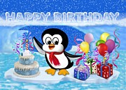 Glenn Holbrook - Happy Birthday Penguin