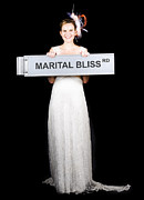 Happy Bride On The Road To Marital Bliss Print by Ryan Jorgensen