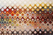Earth Tone Prints - Happy Bubbles  Print by Andrada Anghel