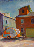 Retro Painting Prints - Happy Camper Print by Athena  Mantle