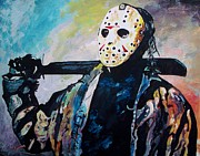 Jason Voorhees Prints - Happy Camper Print by Jeremy Moore