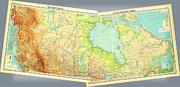 Vintage Map Paintings - HAPPY CANADA DAY  Map of Canada 1922 by MotionAge Art and Design - Ahmet Asar