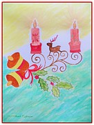Rudolph Painting Prints - Happy Christmas Print by Sonali Gangane