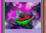Govan Framed Prints - Happy Easter Abstract Framed Print by Andrew Govan Dantzler