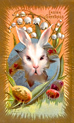 Easter Flowers Digital Art Posters - Happy Easter for All. Poster by Andrzej  Szczerski