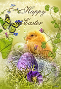 Holidays Digital Art Prints - Happy Easter Print by Mo T