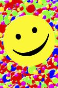Smiley Faces Prints - Happy Face Print by Chris Knorr