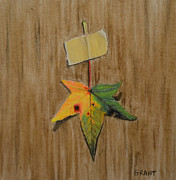 Greeting Card Pastels Originals - Happy Fall by Joanne Grant