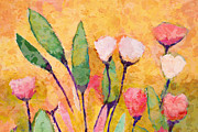 Floral Paintings - Happy Flowers by Lutz Baar