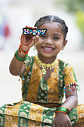 Indian Girl Photos - Happy Girl by Tim Gainey