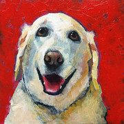 Golden Retriever Paintings - Happy Golden by Mary Medrano