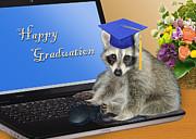 Jeanette K - Happy Graduation Raccoon