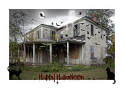 Happy Black Cats Framed Prints - Happy Halloween Framed Print by Brian Wallace