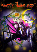Nightmare Before Christmas Prints - Happy Halloween II Print by Alessandro Della Pietra