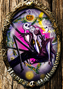 Nightmare Before Christmas Prints - Happy Halloween III Print by Alessandro Della Pietra