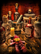 Potions Framed Prints - Happy Halloween Framed Print by Lee Dos Santos