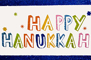 Hanuka Prints - Happy Hanukkah 2013 Print by  Terrie Heslop
