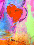 Joy Mixed Media - Happy Heart Pop Art by Adspice Studios