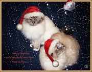 Happy Holidays Print by Gun Legler