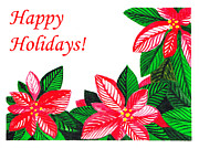 Card Posters - Happy Holidays Poster by Irina Sztukowski
