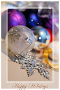 Susan M. Smith Prints - Happy Holidays Ornaments 2 Print by Susan Smith