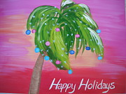 Roberta Dunn - Happy Holidays Palm Tree