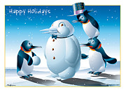 Ned Levine - Happy Holidays Penguins