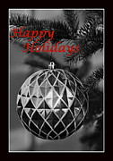 Cheer On Photo Posters - Happy Holidays Red Poster by Francie Davis