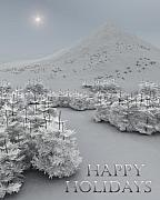 Christmas Cards Digital Art - Happy Holidays by Richard Rizzo
