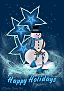 All - Happy Holidays Snowman by Darlene Bell